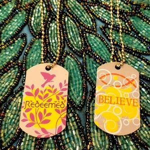 Jewelry - 💥💥SET OF TWO INSPIRATIONAL DOG TAG NECKLACES 💥
